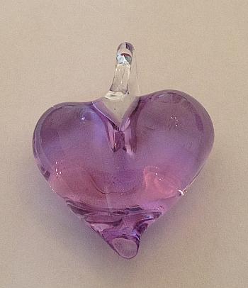 Anhänger-Herz: violett